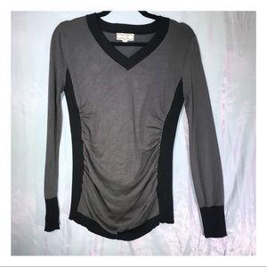 Pink.Rose Grey/Black V-Neck Sweater